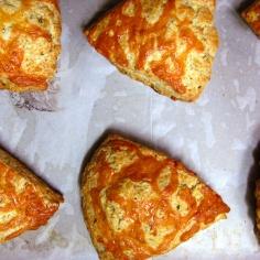 herb + cheddar scones
