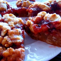 strawberry-lime crumble bars