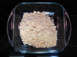 Crumbs in Pan