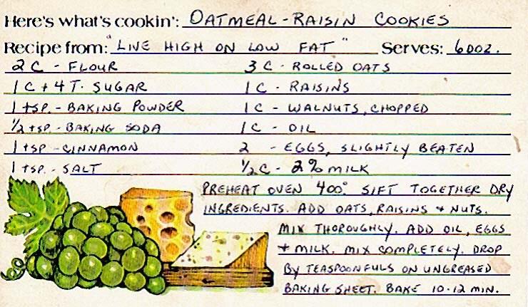 Oatmeal raisin cookies2