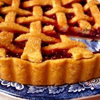 vegan cherry + apricot tart