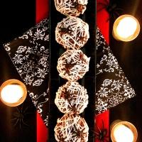 creepy chocolate spiderweb treats!
