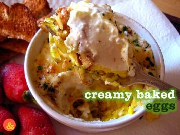 CreamyBakedEggs