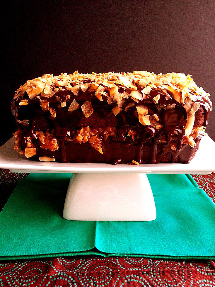 german chocolate loaf cake