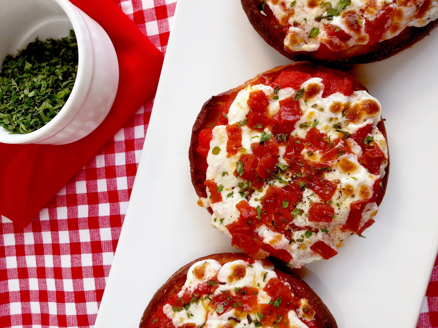english muffin pizzas!