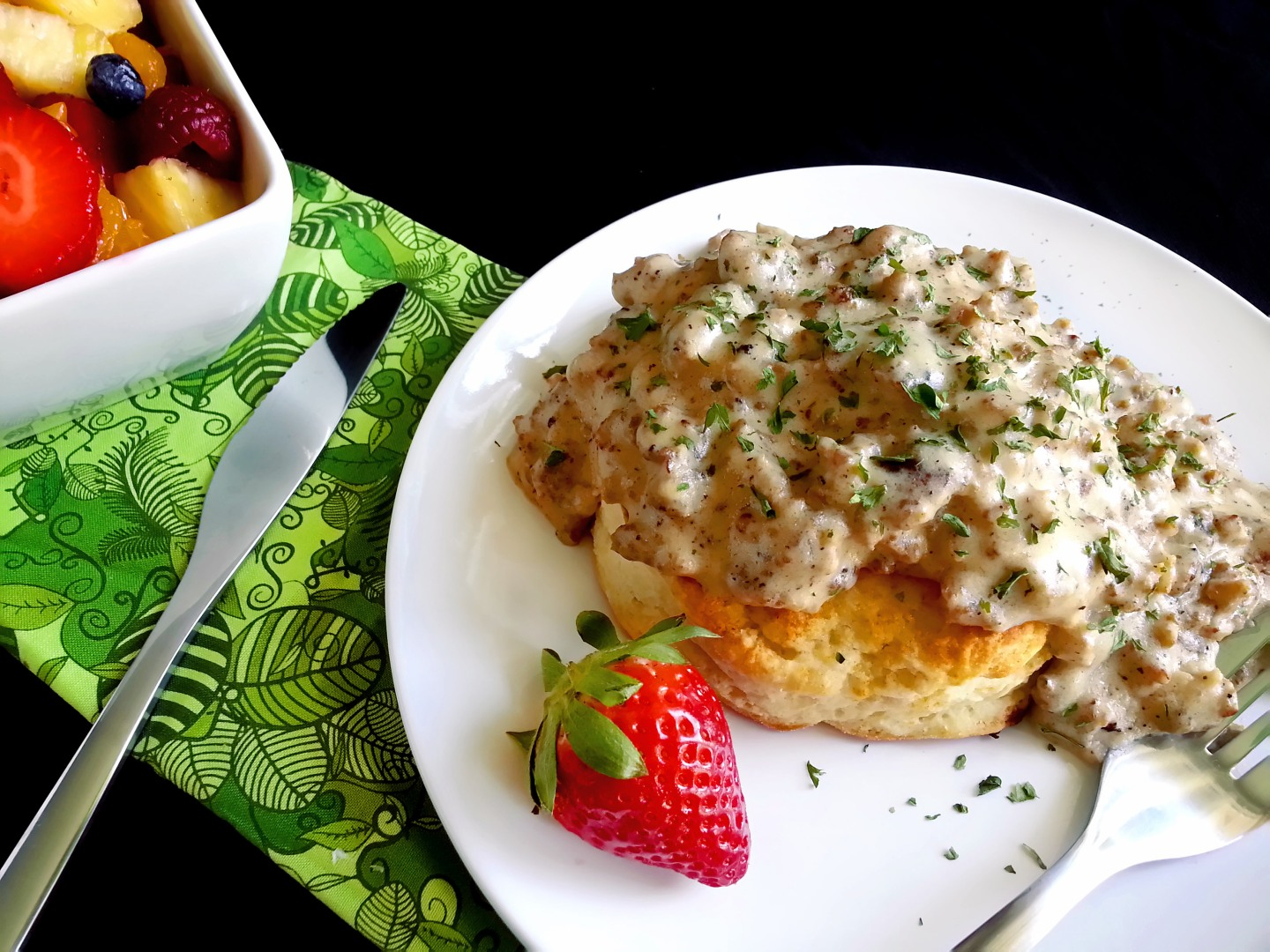 classic biscuits + sausage gravy