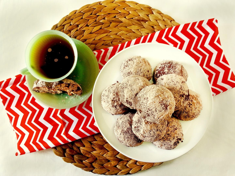 german chocolate teacookies