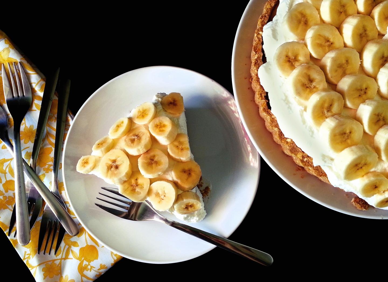 banoffee pie with pretzelcrust